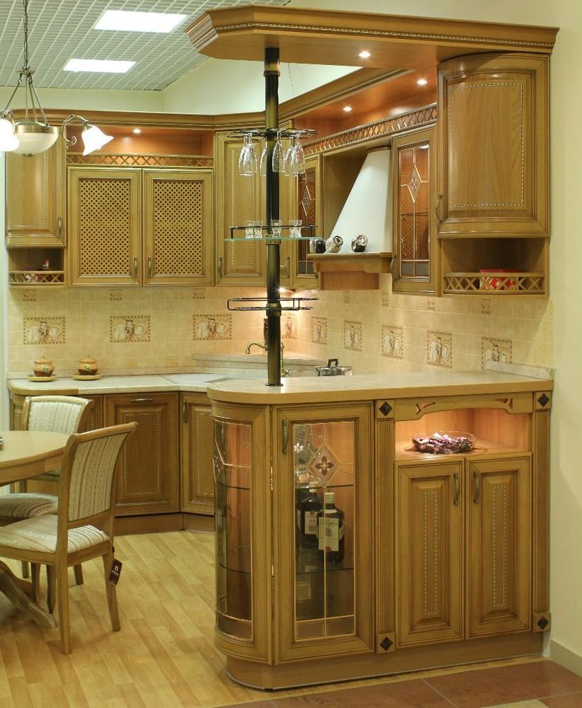 Дорогие и элитные кухни-Кухня из массива «Модель 127»-фото2