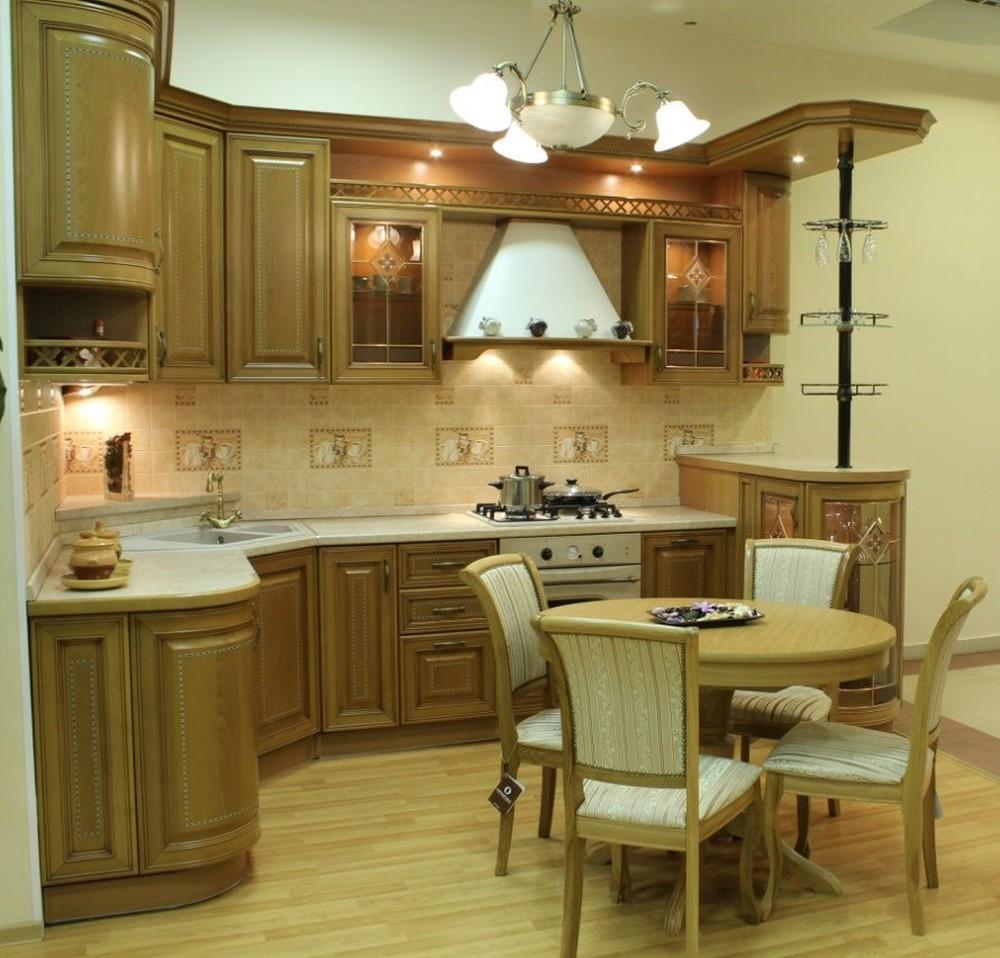 Дорогие и элитные кухни-Кухня из массива «Модель 127»-фото3