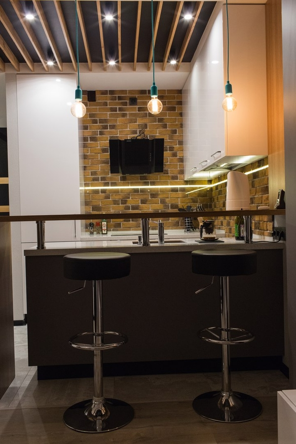 Купить желтую кухню-Кухня МДФ в пластике «Модель 12»-фото1