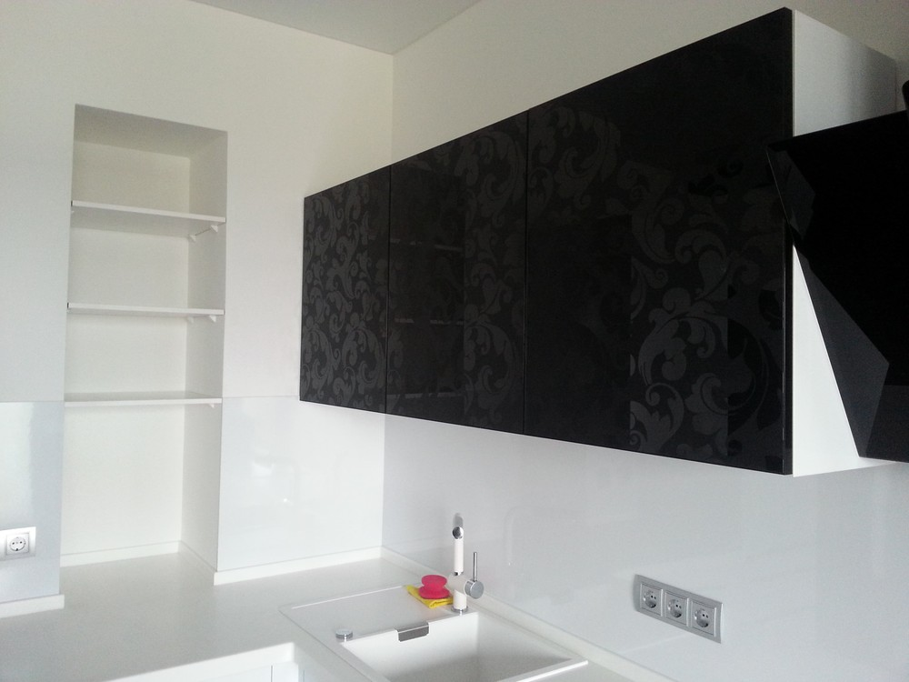 Белый кухонный гарнитур-Кухня МДФ в ПВХ «Модель 209»-фото2