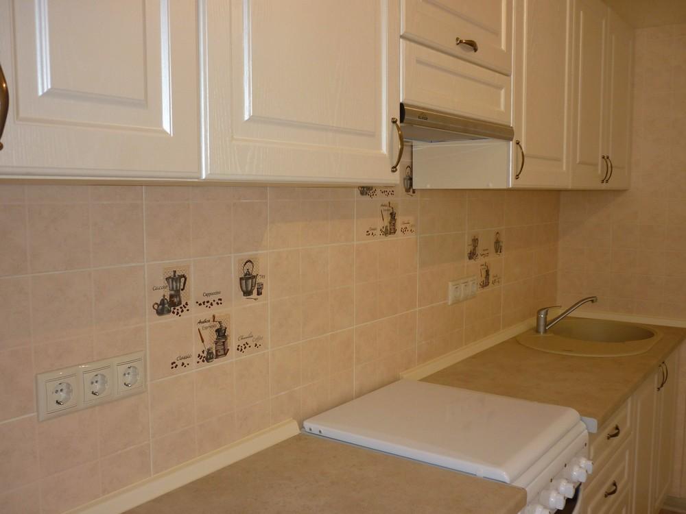 Белый кухонный гарнитур-Кухня МДФ в ПВХ «Модель 222»-фото1