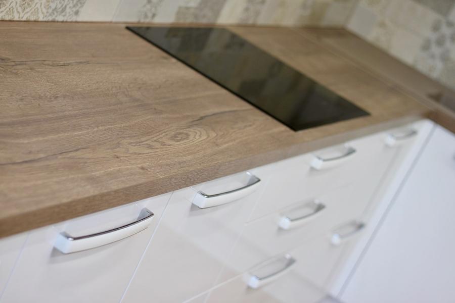 Белый кухонный гарнитур-Кухня МДФ в эмали «Модель 289»-фото7
