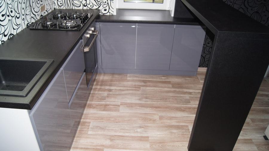Глянцевые кухни-Кухня МДФ в эмали «Модель 285»-фото3