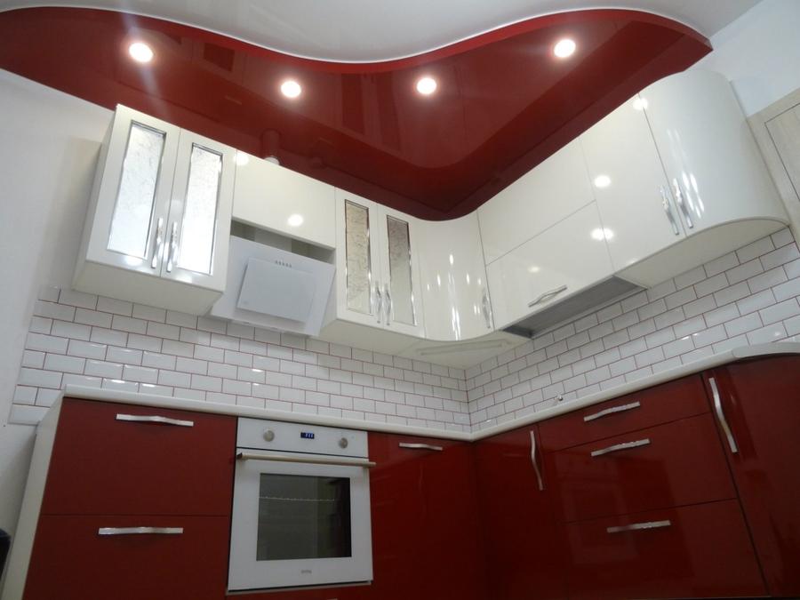 Белый кухонный гарнитур-Кухня из пластика «Модель 365»-фото3
