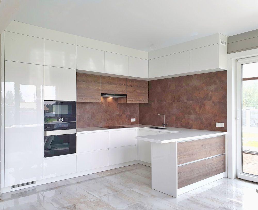 Белый кухонный гарнитур-Кухня МДФ в эмали «Модель 533»-фото1