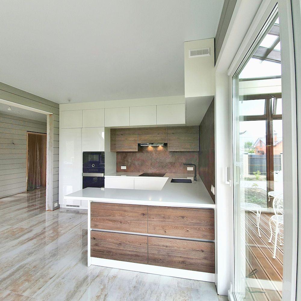 Белый кухонный гарнитур-Кухня МДФ в эмали «Модель 533»-фото2