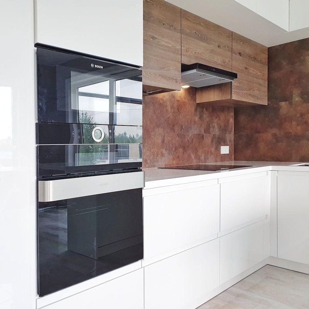 Белый кухонный гарнитур-Кухня МДФ в эмали «Модель 533»-фото4