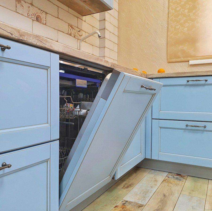 Дорогие и элитные кухни-Кухня МДФ в эмали «Модель 524»-фото9