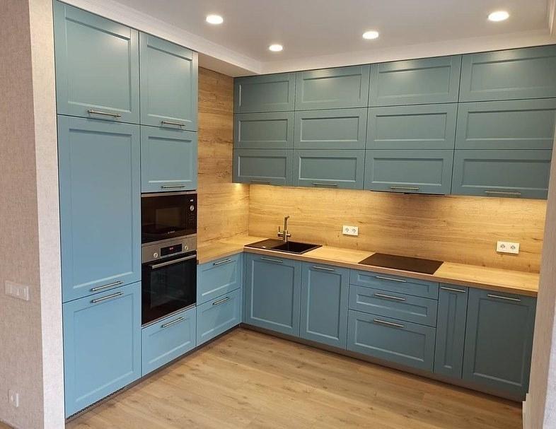 Классические кухни-Кухня МДФ в эмали «Модель 586»-фото1