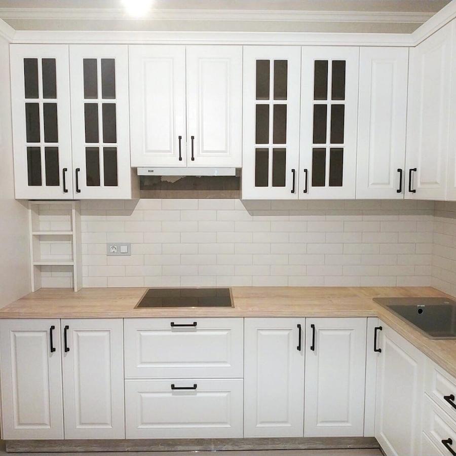 Белый кухонный гарнитур-Кухня МДФ в ПВХ «Модель 598»-фото2