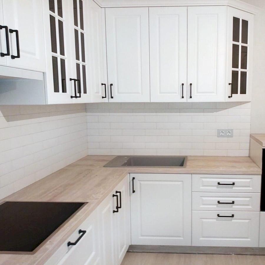 Белый кухонный гарнитур-Кухня МДФ в ПВХ «Модель 598»-фото3