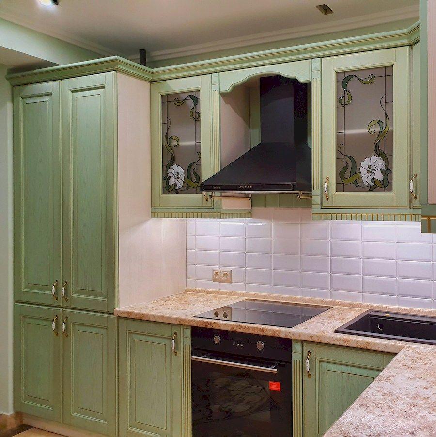 Классические кухни-Кухня из шпона «Модель 559»-фото2