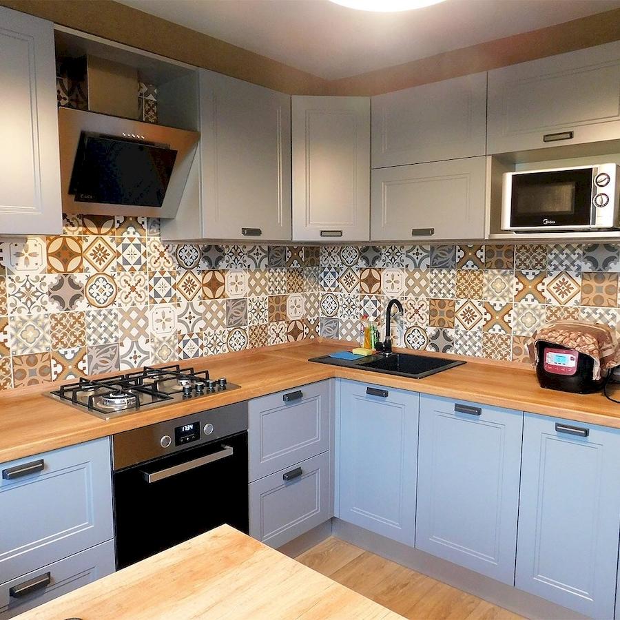 Классические кухни-Кухня МДФ в эмали «Модель 590»-фото1