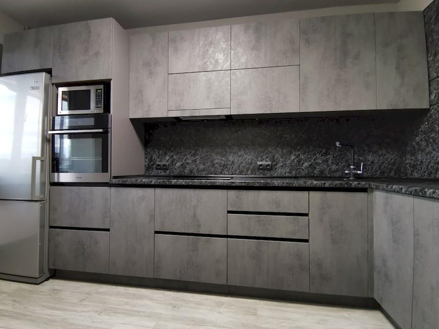 Купить кухню-Кухня МДФ в ПВХ «Модель 575»-фото3