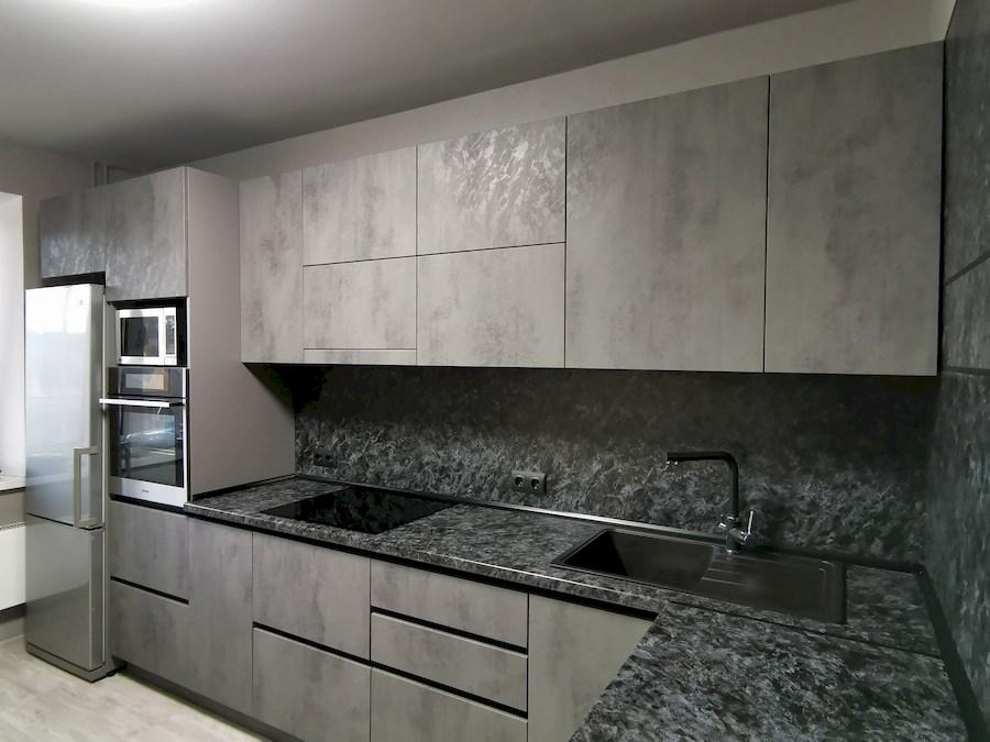 Купить кухню-Кухня МДФ в ПВХ «Модель 575»-фото2