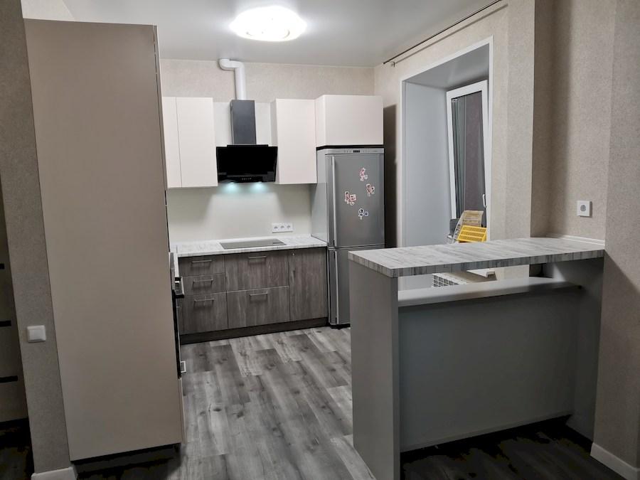 Белый кухонный гарнитур-Кухня МДФ в ПВХ «Модель 580»-фото1