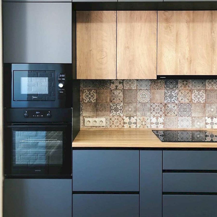 Высокие кухни под потолок-Кухня МДФ в эмали «Модель 676»-фото4