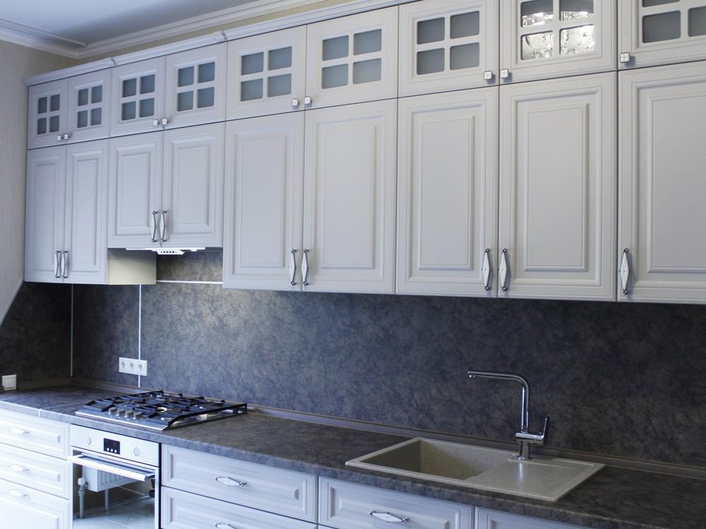 Встроенная кухня-Кухня МДФ в ПВХ «Модель 147»-фото6