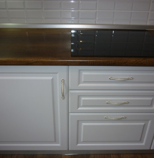 Белый кухонный гарнитур-Кухня МДФ в ПВХ «Модель 235»-фото4