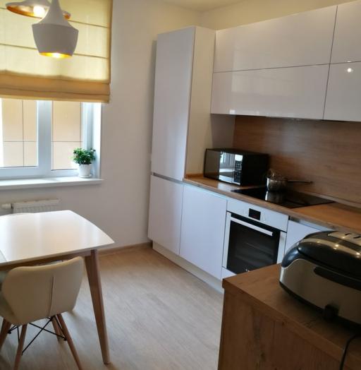 Белый кухонный гарнитур-Кухня из пластика «Модель 438»-фото2