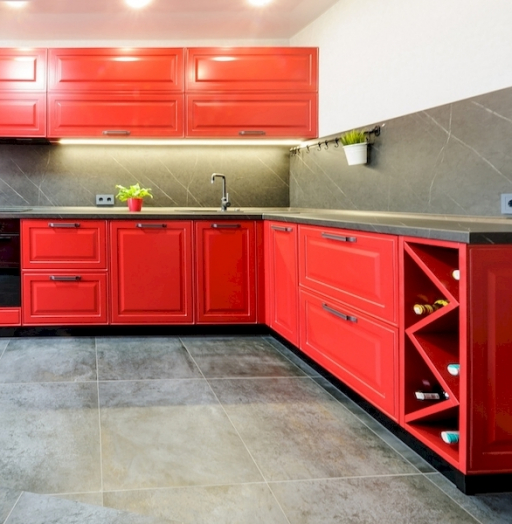Классические кухни-Кухня МДФ в эмали «Модель 600»-фото5